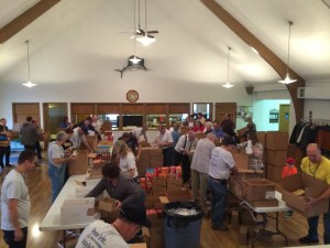 Many Troop Members Donating Food and Time